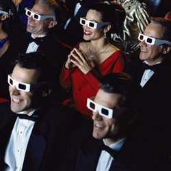Audience At A 3D Movie