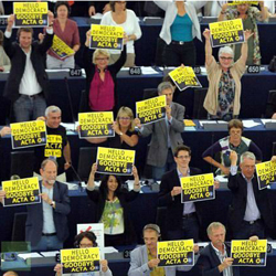 EU Parliament Protests ACTA